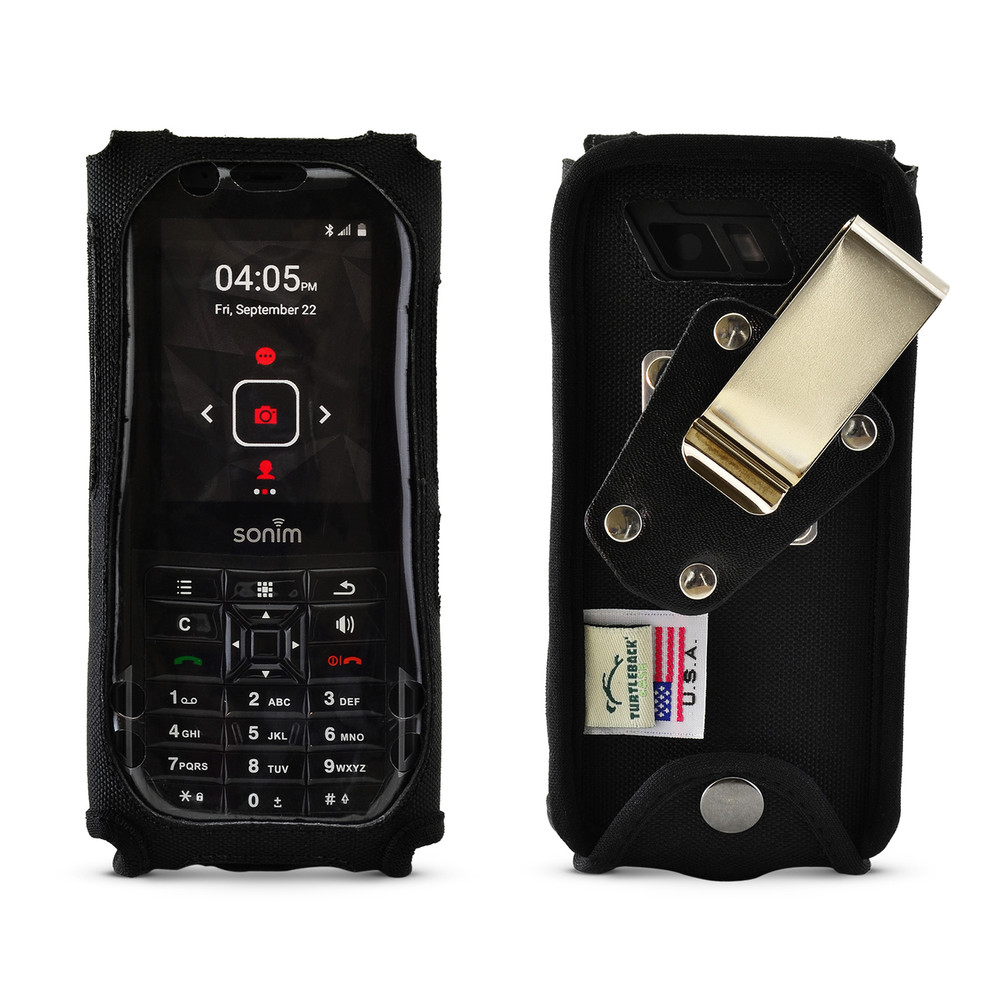 super popular 11cc4 2be51 Sonim XP5s Fitted Rugged Nylon Phone Case, Plastic Cover Metal Belt Clip