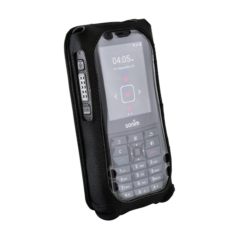 Sonim XP5s Fitted Rugged Nylon Phone Case, Plastic Cover Metal Belt Clip
