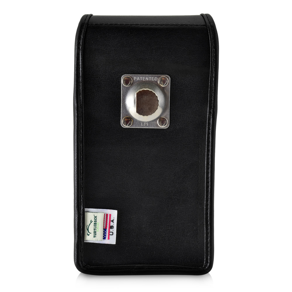 Google Pixel 3A (2019) Vertical Holster Black Leather Pouch with Heavy Duty Rotating Belt Clip