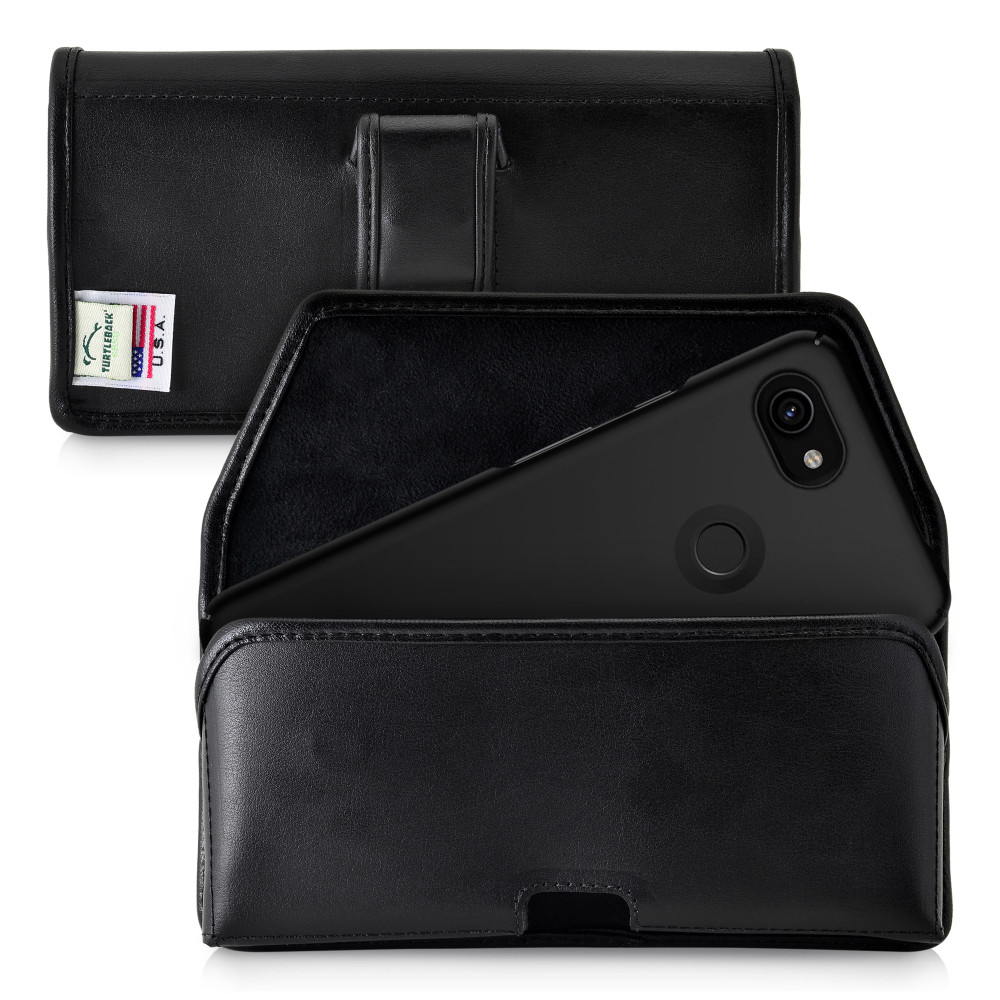 Holster for Google Pixel 3 XL and Pixel 3A XL (2019) Executive Belt Clip Case Leather Pouch, Horizontal