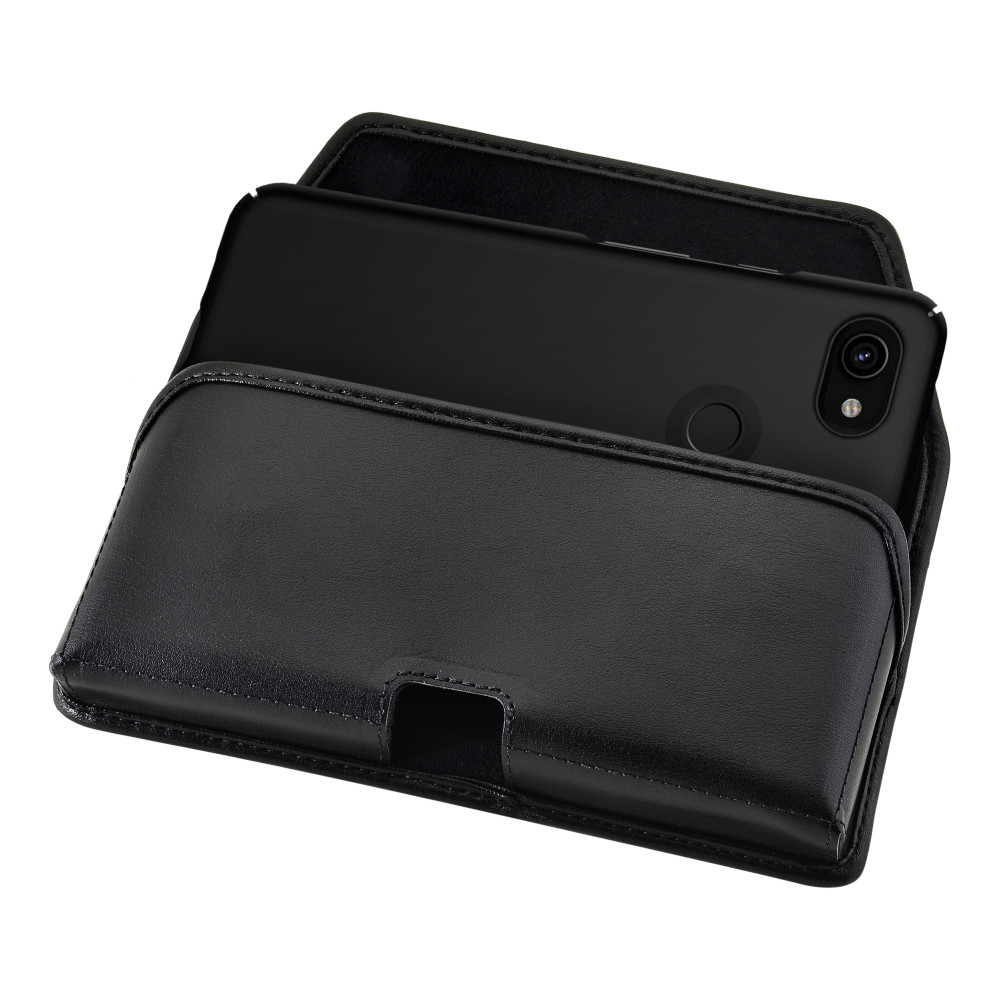 Holster for Google Pixel 3 XL & Pixel 3A XL (2019) Leather Pouch w/ Heavy Duty Rotating Belt Clip Horizontal
