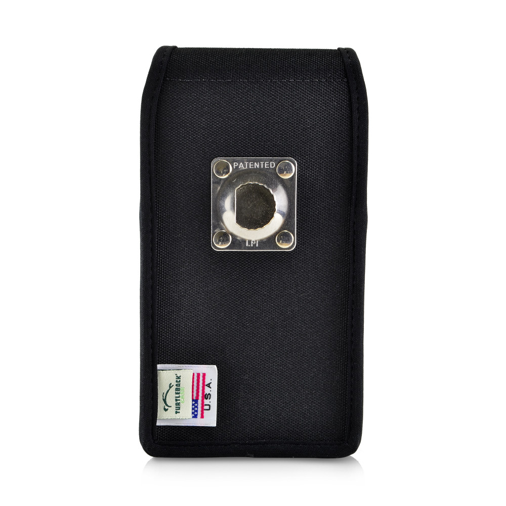 Galaxy S10 Fits with OTTERBOX COMMUTER Vertical Holster Black Nylon Pouch Rotating Belt Clip