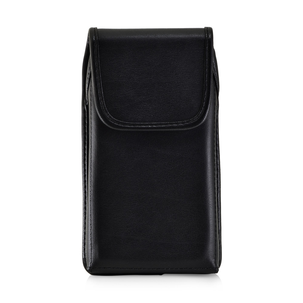 Galaxy S10 Fits with OTTERBOX DEFENDER Vertical Belt Case Black Leather Pouch Executive Belt Clip