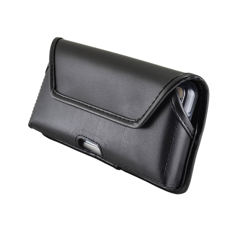 Galaxy S10 Fits with OTTERBOX SYMMETRY Black Leather Holster Pouch Rotating Belt Clip Horizontal