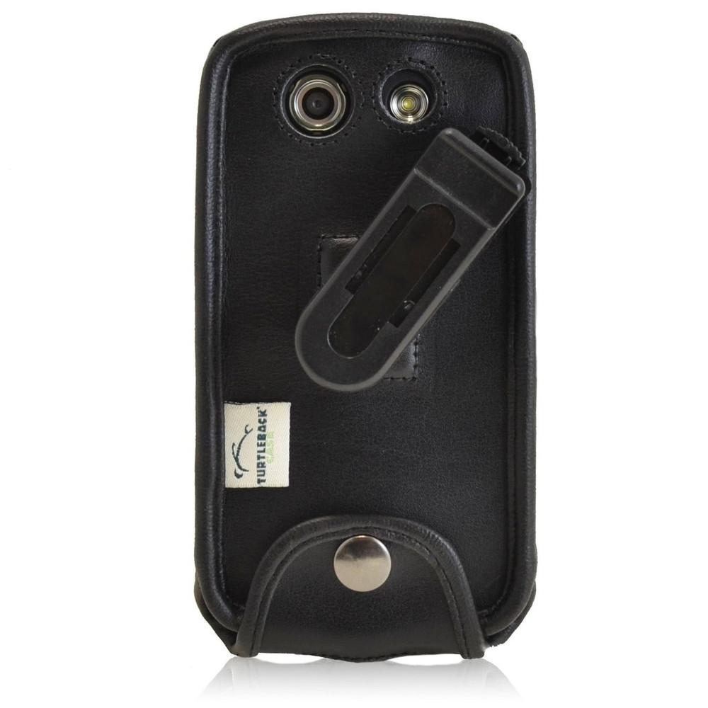 Kyocera Brigadier E6782 Executive Black Leather Case Phone Case with Ratcheting Belt Clip