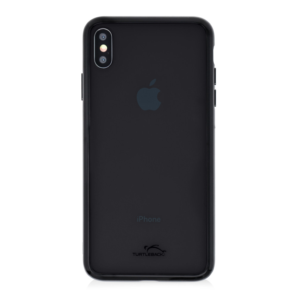 Hybrid Case for Apple iPhone XS Max 6.5 Inch with Anti-Scratch Ultra Clear Back and Black Sides, shockproof