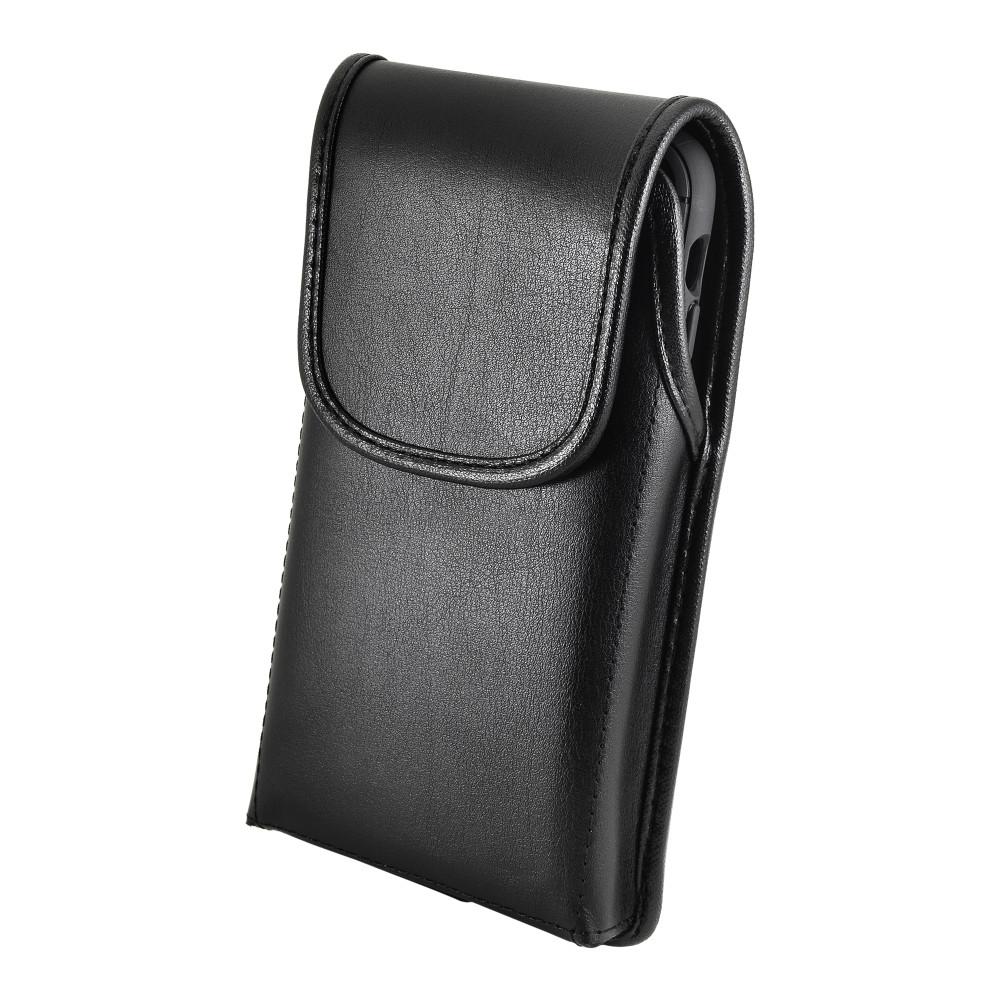 Tough Defense Combo for iPhone 11 Pro Max, Blk/Clr Drop Test Case + Vertical Pouch, Leather Clip