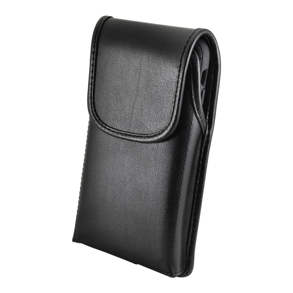 Tough Defense Combo for iPhone 11 Pro Max, Blu/Clr Drop Test Case + Vertical Pouch, Leather Clip