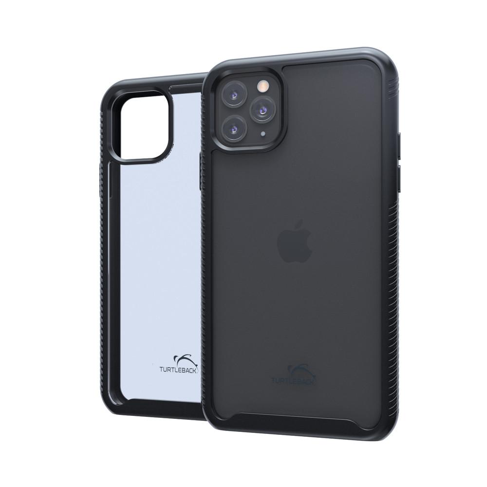 Tough Defense Combo for iPhone 11 Pro, Blk/Clr Drop Test Case + Hoz Nylon Pouch, Metal Clip