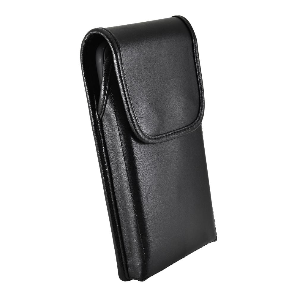 Tough Defense Combo for iPhone 11 Pro, Blk/Clr Drop Test Case + Vertical Pouch, Metal Clip