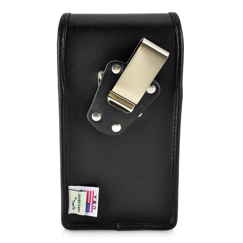 Tough Defense Combo for iPhone 11 Pro, Blu/Clr Drop Test Case + Vertical Pouch, Metal Clip