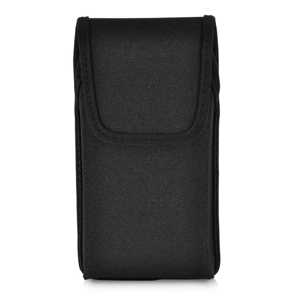 Tough Defense Combo for iPhone 11 Pro, Blu/Clr Drop Test Case + Ver Nylon Pouch, Metal Clip