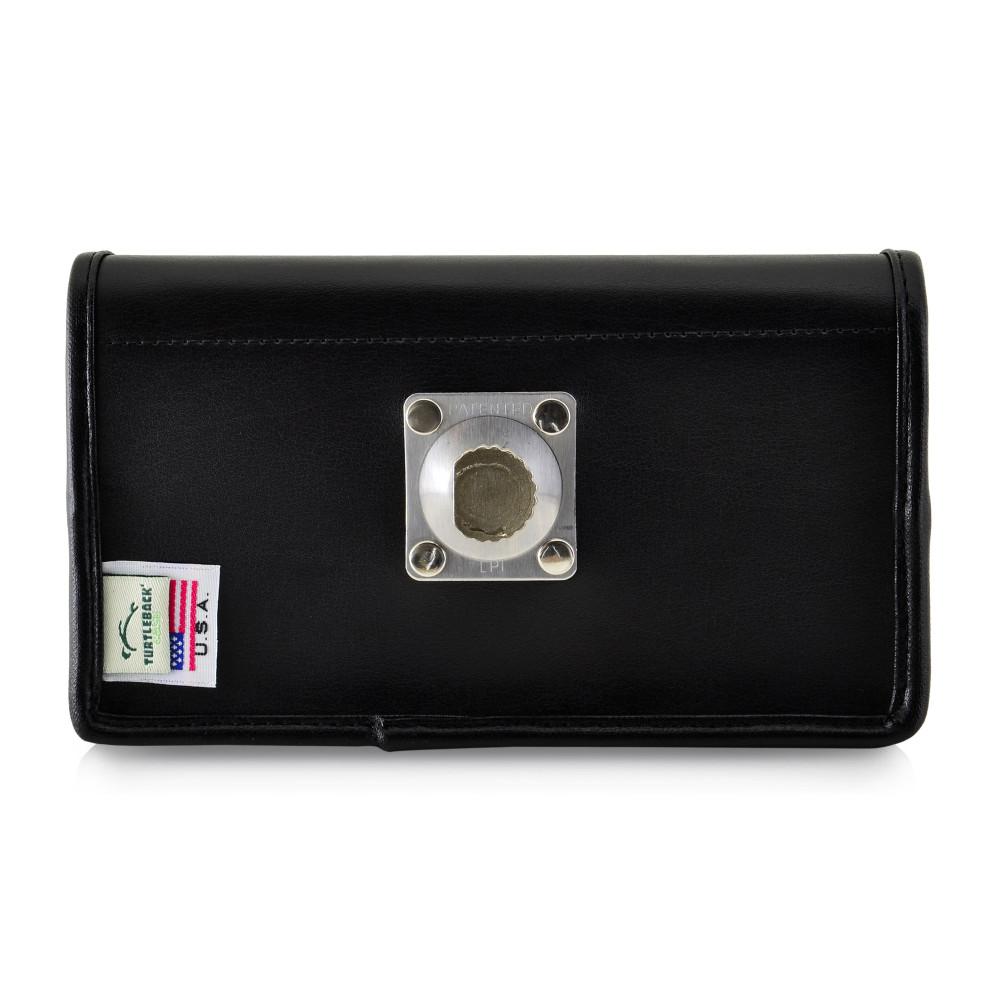 Tough Defense Combo for iPhone XR, Black/Clear Drop Test Case + Horizontal Pouch, Metal Clip