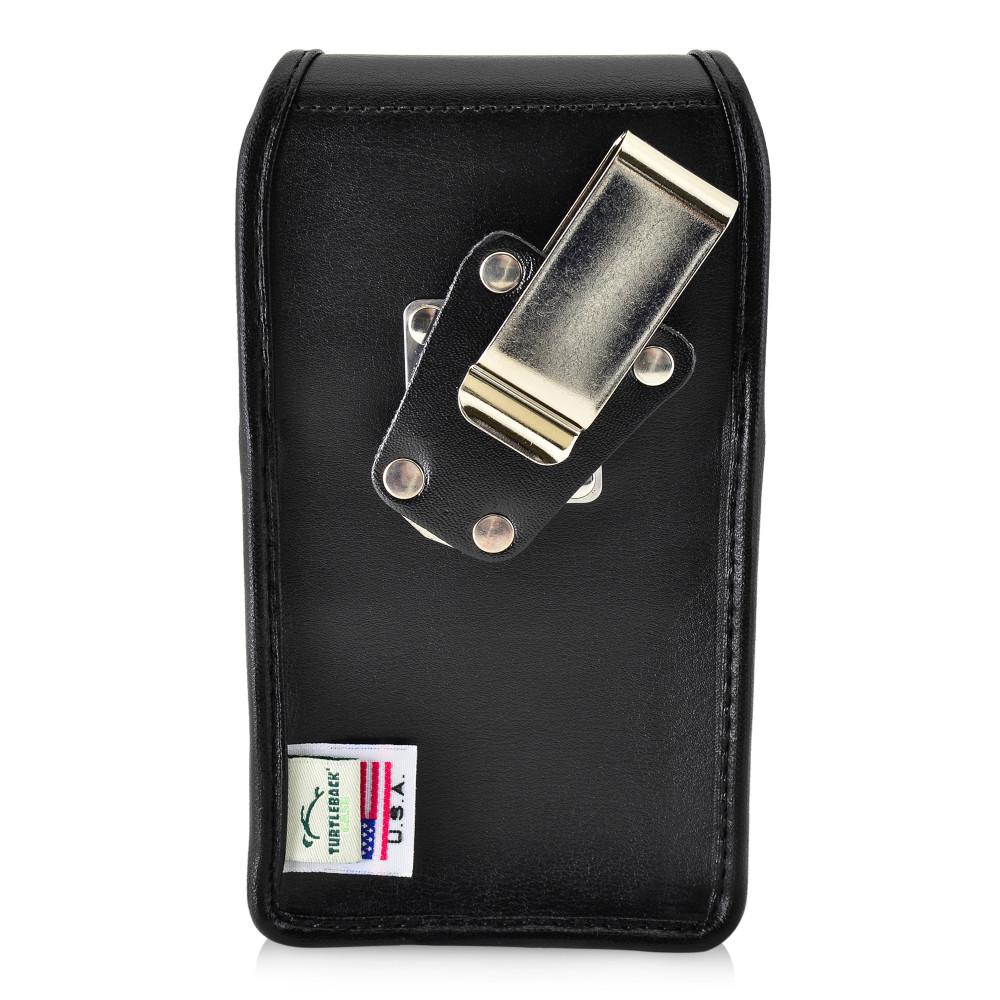 Tough Defense Combo for iPhone X & XS, Blk/Clr Drop Test Case + Vertical Pouch, Metal Clip