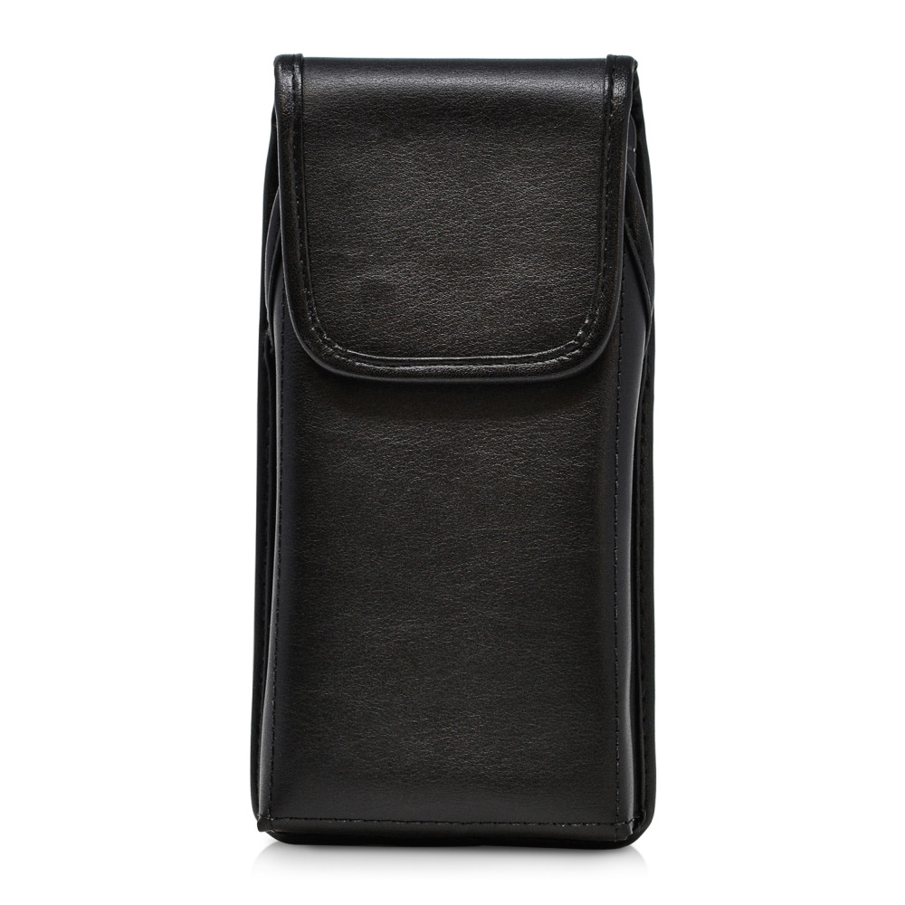 Galaxy S20 Ultra Vertical Holster Black Leather Pouch Rotating Belt Clip