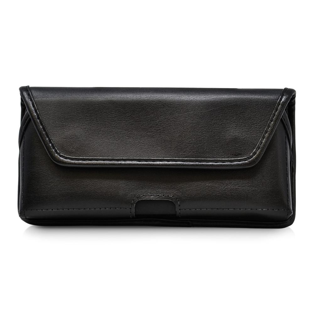 Galaxy S20+ S21+ Plus Belt Case Black Leather Pouch Executive Belt Clip Horizontal