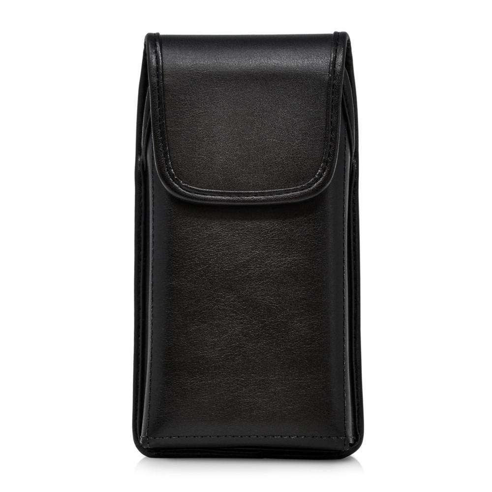 Galaxy S20+ Plus Vertical Belt Case Black Leather Pouch Executive Belt Clip