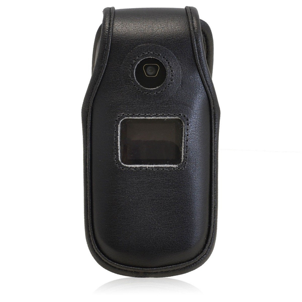 LG 440G Executive Black Leather Case Phone Case with Ratcheting Belt Clip