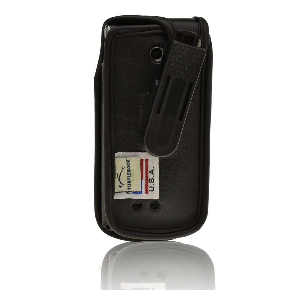 LG Exalt vn360 Executive Black Leather Case Phone Case with Ratcheting Belt Clip