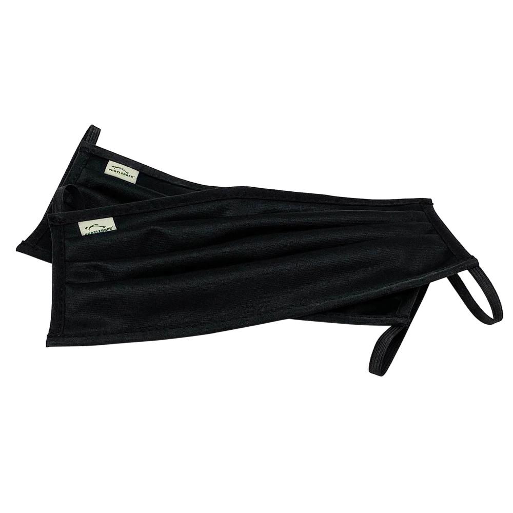 Kids Face Mask Black (Set of 2) | 2 Ply, Washable, Reusable Mask with Cotton Pocket, Nose Seal,  Adjustable Ear Loops