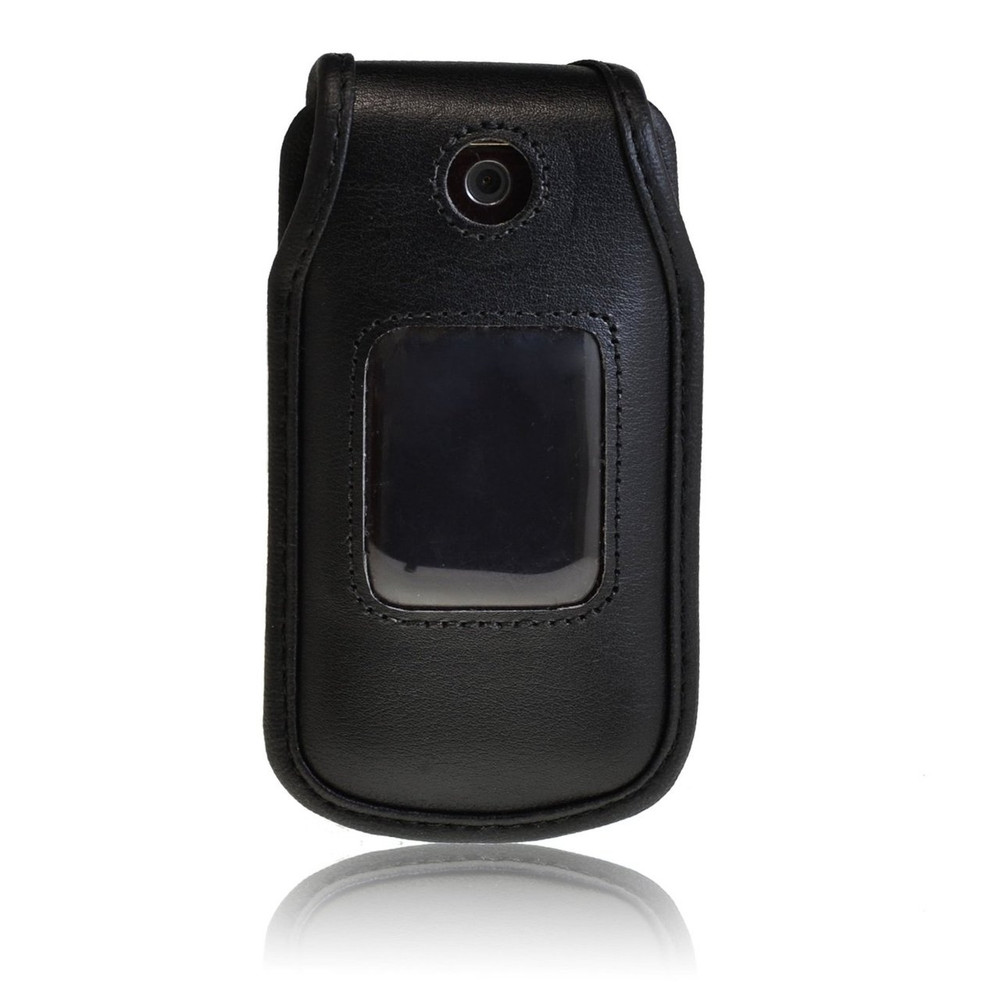 LG Wine 2 UN430 Executive Black Leather Case Phone Case with Ratcheting Belt Clip