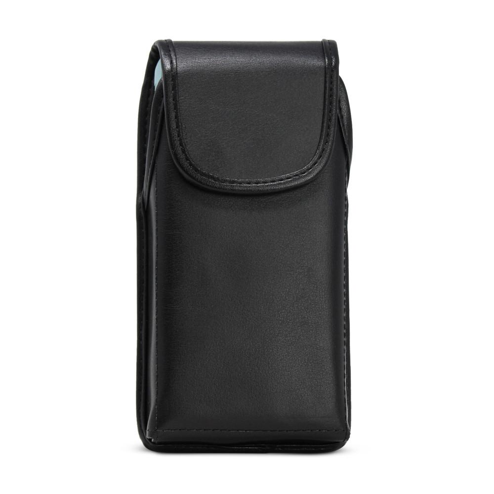 Galaxy S20 S21 w/Otterbox Commuter Vertical Belt Case Black Leather Pouch Executive Belt Clip