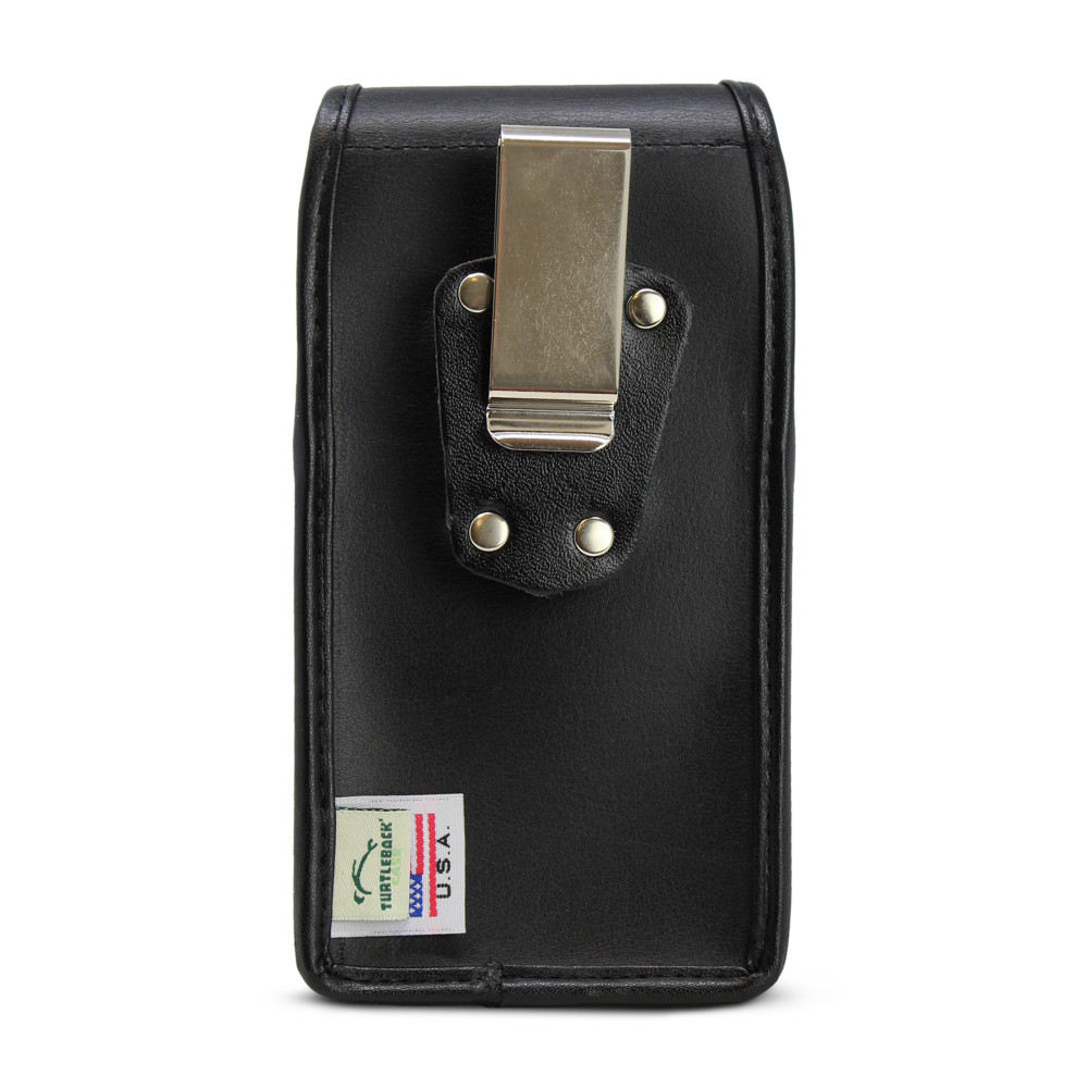 Galaxy S20 w/Otterbox Commuter Vertical Holster Black Leather Pouch Rotating Belt Clip