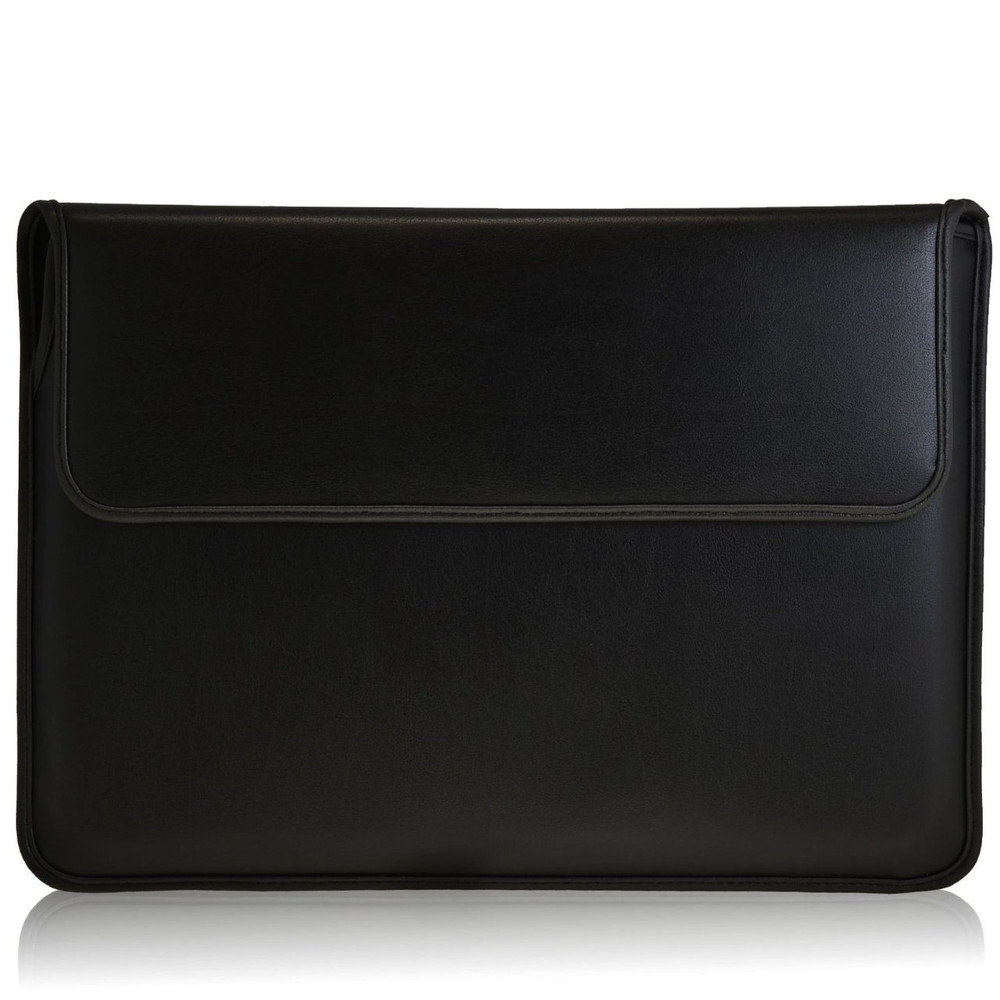 new style 88317 200a5 Black Leather 13.3in Laptop Sleeve Case for MacBook Air, Macbook Pro with  Retina, Ultrabook