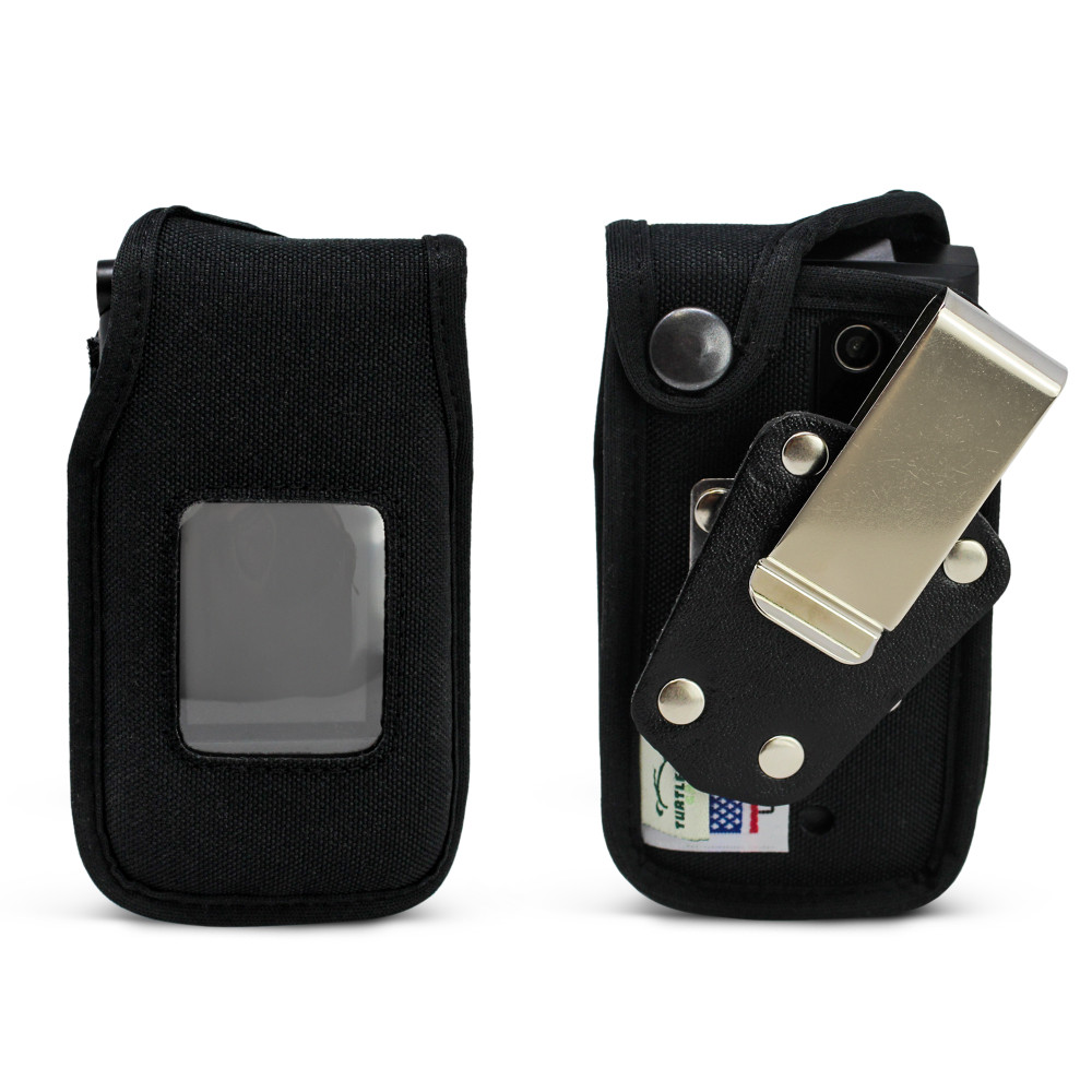 Orbic Journey V Heavy Duty Black Nylon Case with Rotating, Removable Metal Belt Clip
