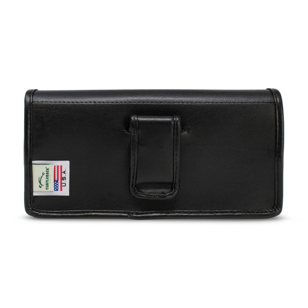 Samsung Galaxy Note 20 5G (2020) Belt Holster Case Black Leather Pouch with Executive Belt Clip, Horizontal