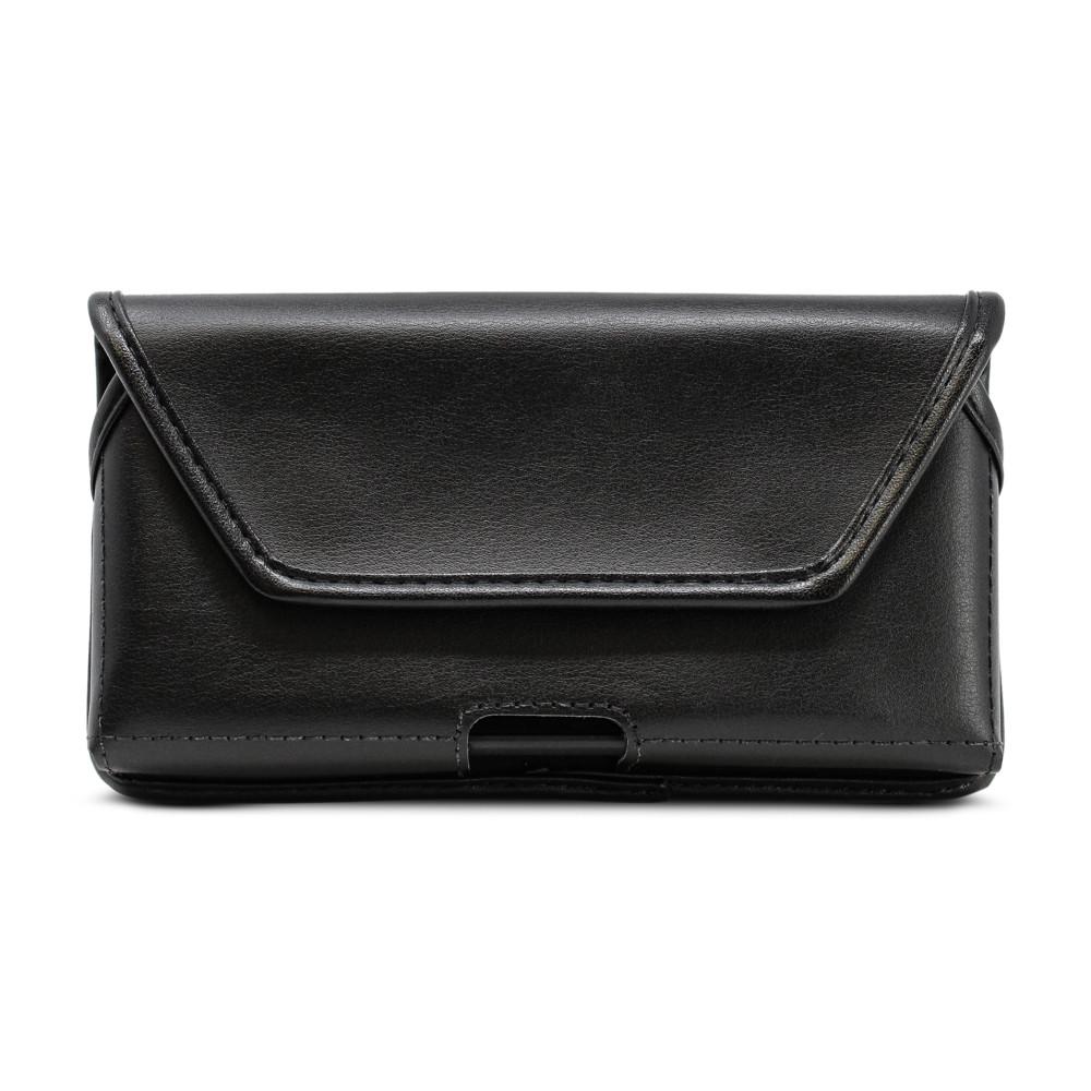 Motorola Lex L11 Belt Holster Case Black Leather Pouch with Executive Belt Clip, Horizontal