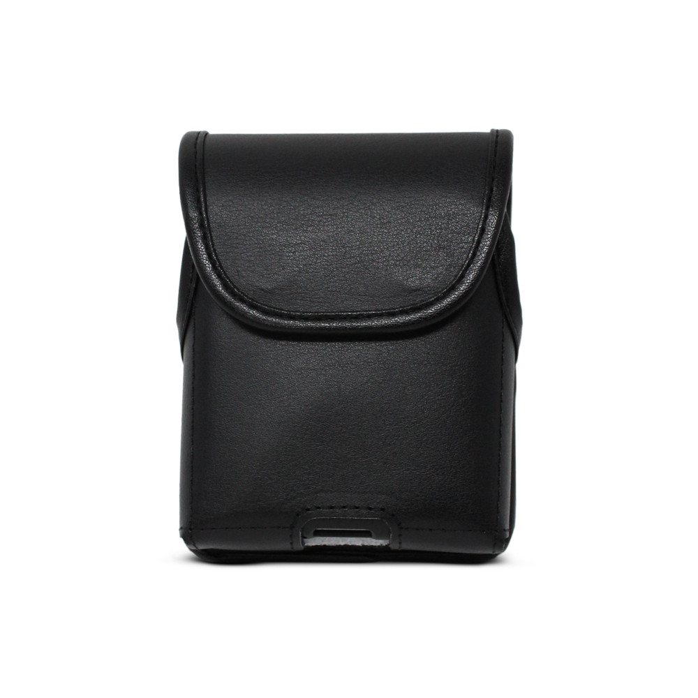 Motorola Razr Vertical Holster Black Leather Pouch with Heavy Duty Rotating Belt Clip