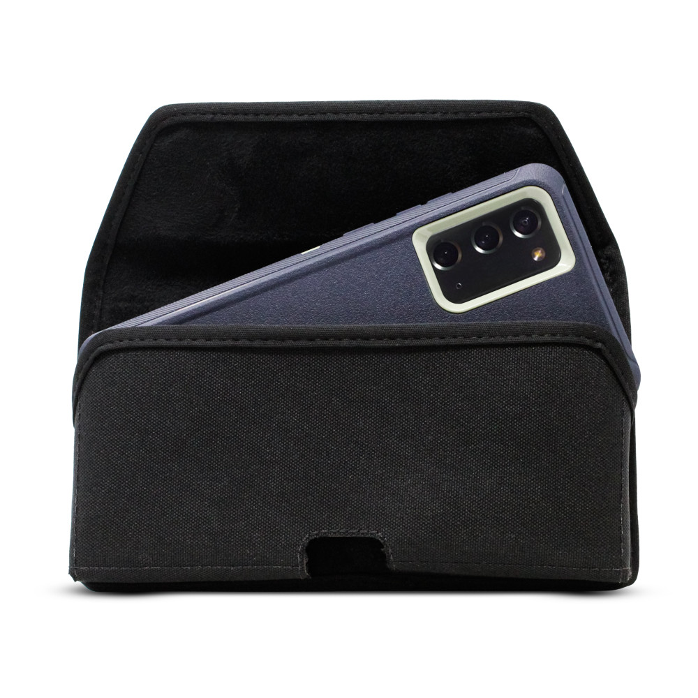Samsung Galaxy Note 20 Holster for Otterbox DEFENDER Case, Turtleback Belt Case with Rotating Metal Belt Clip, Black Nylon Pouch, Heavy Duty Horizontal