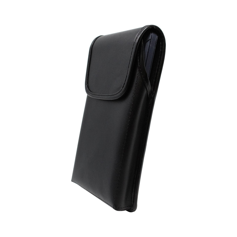 Galaxy Note 20 Ultra (2020) Vertical Belt Case for Otterbox DEFENDER Case, Turtleback Belt Clip with Rotating Metal Belt Clip, Black Leather Pouch