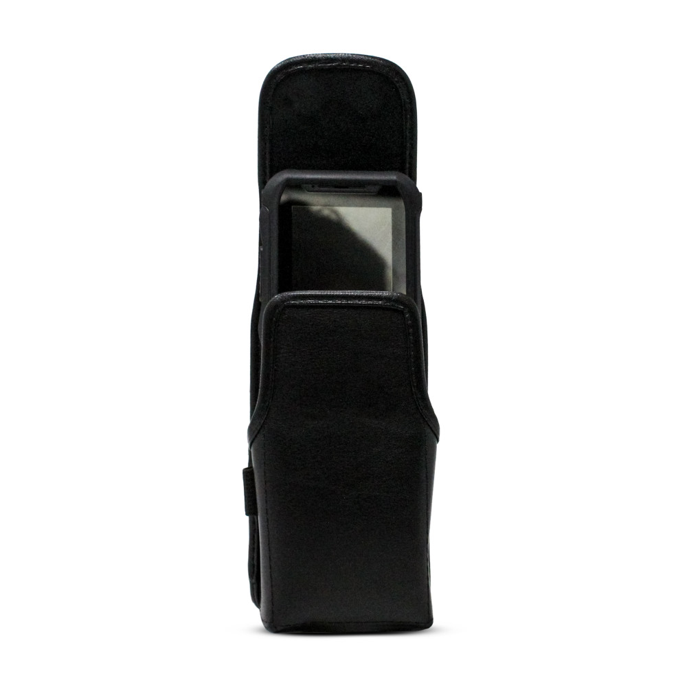 Turtleback JVC Kenwood KWSA50K Leather Vertical Phone Holster Pouch Case, Metal Belt Clip
