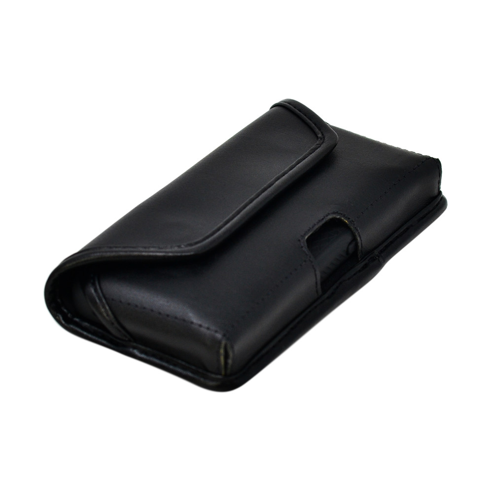 iPhone 12 Mini Belt Holster Case Black Leather Pouch Executive Belt Clip Horizontal