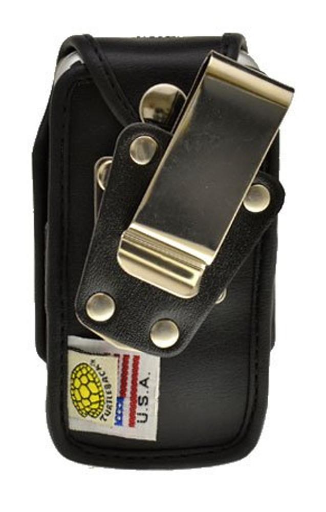 Motorola V750 Adventure Heavy Duty Black Leather Case With