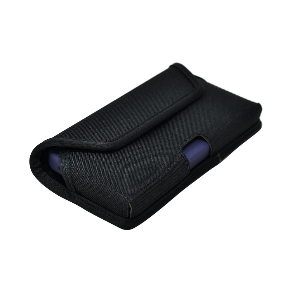iPhone 12 & 12 Pro  Belt Clip Horizontal Holster Case Black Nylon Pouch Heavy Duty Rotating Clip