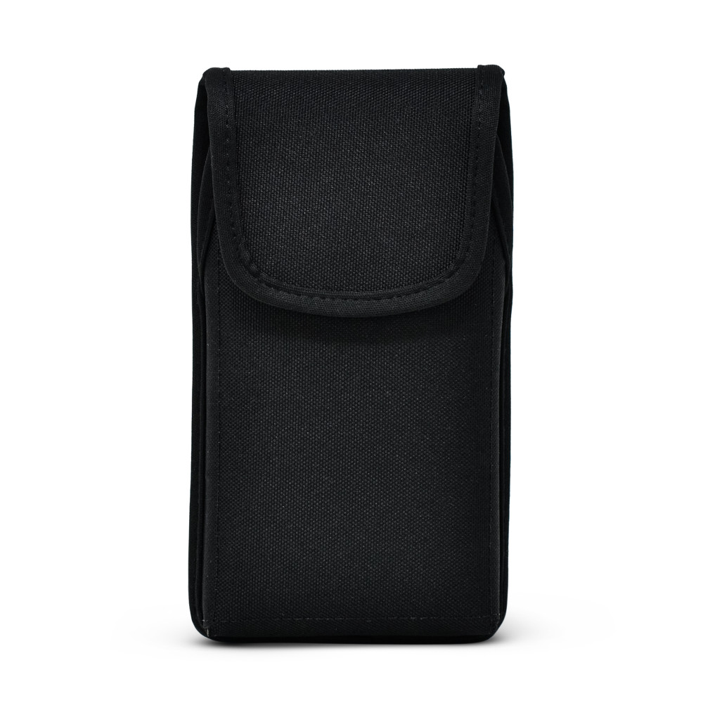 iPhone 12 & 12 Pro  Belt Clip Vertical Holster Case Black Nylon Pouch Heavy Duty Rotating Clip