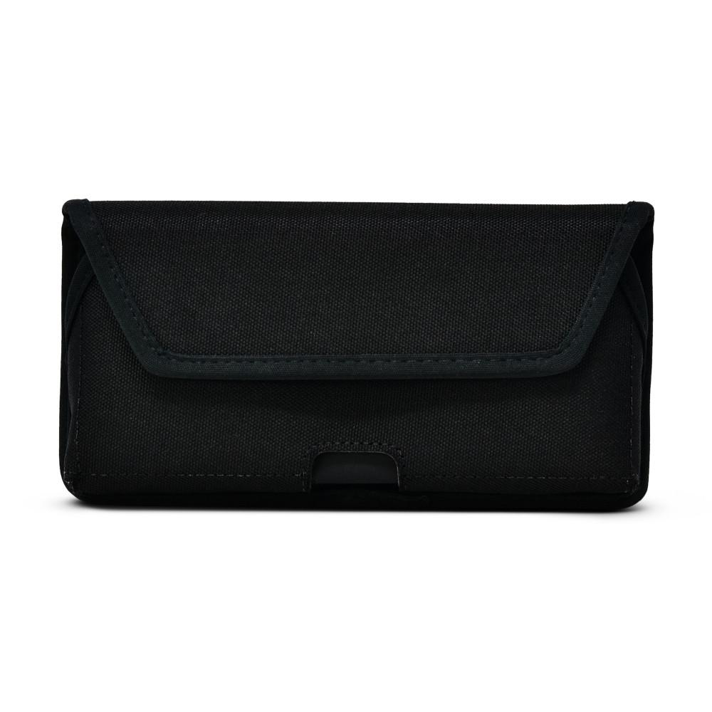 iPhone 12 Pro Max  Belt Clip Horizontal Holster Case Black Nylon Pouch Heavy Duty Rotating Clip