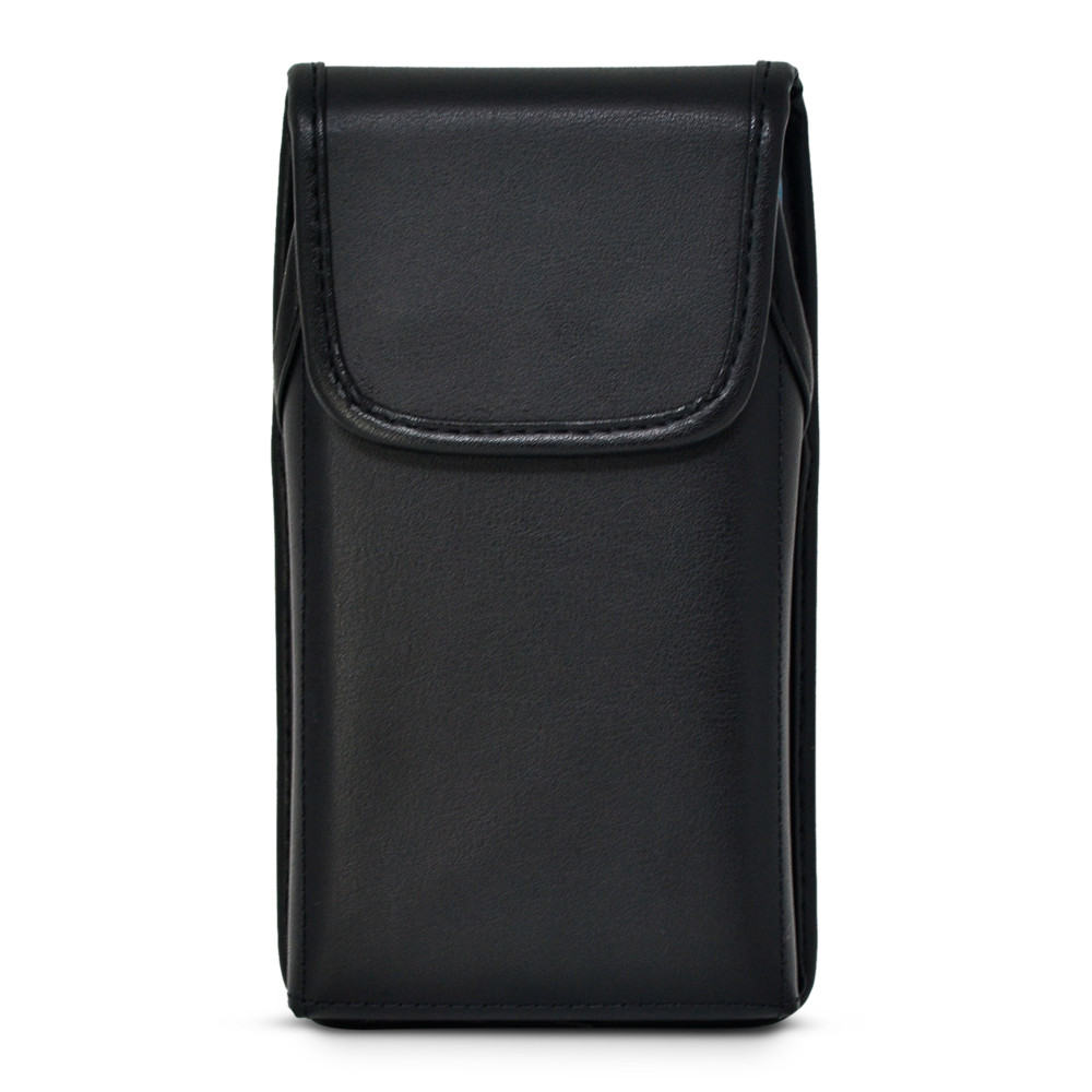 Turtleback Holster Designed for iPhone 12 Pro, 12 5G (2020) Fits with OTTERBOX DEFENDER, Vertical Belt Case Black Leather Pouch with Executive Belt Clip, Made in USA
