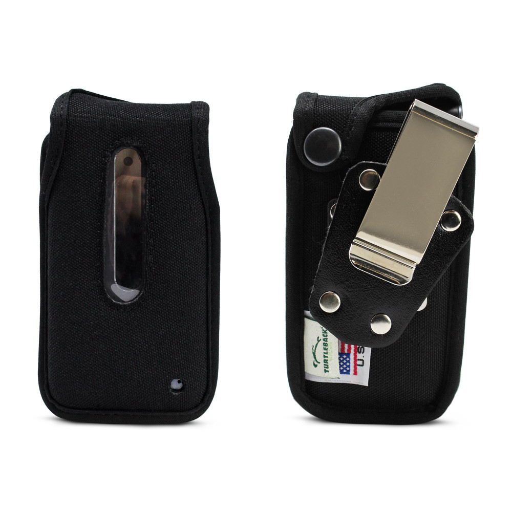 LG Classic (L125DL) Fitted Case Heavy Duty Black Nylon with Rotating, Removable Metal Belt Clip, U S Cellular