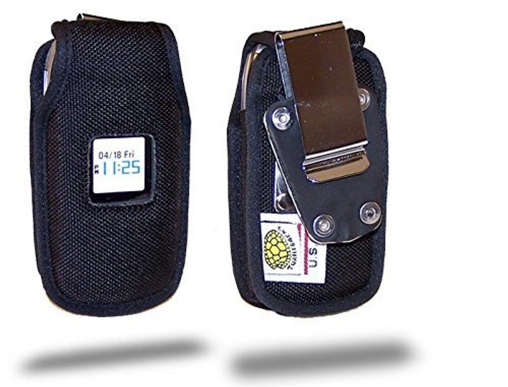 Pantech Breeze C520 Heavy Duty Nylon Phone Case with Rotating Metal Clip