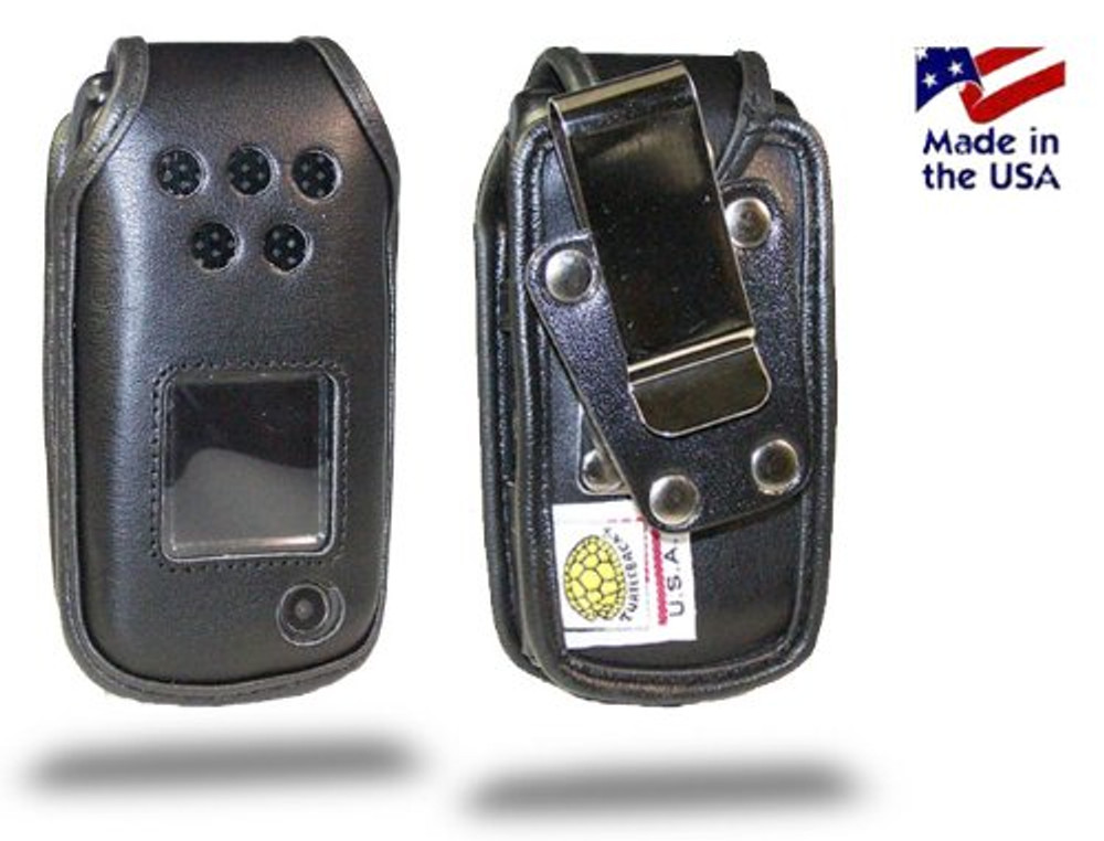 Samsung Rugby 2 A847, A837 Heavy Duty Leather Phone Case with Rotating Metal Belt Clip