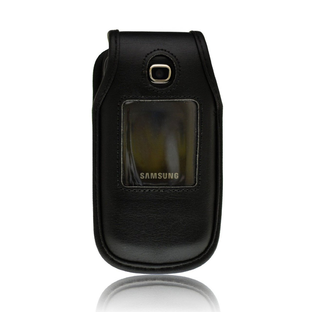 Samsung C414 Executive Black Leather Case with Ratcheting Clip