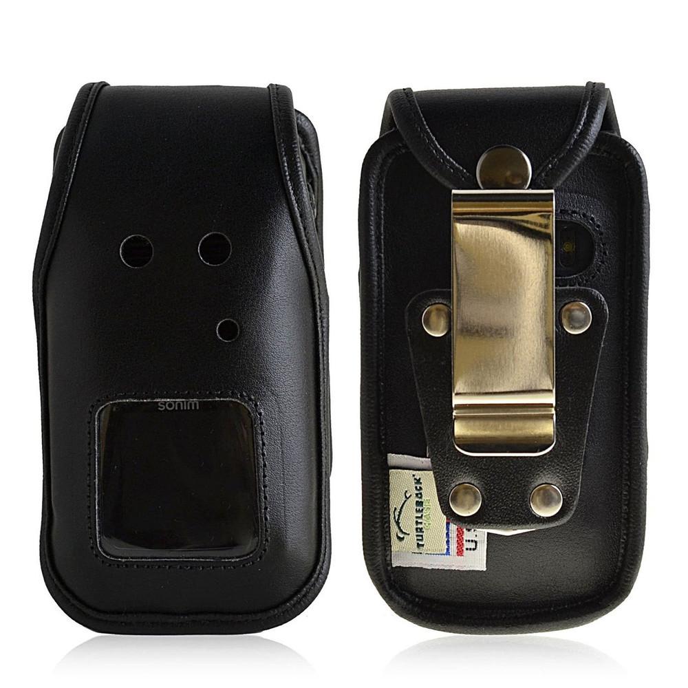Sonim Enduro 4400 Heavy Duty Leather Fitted Case, Metal Belt Clip by Turtleback