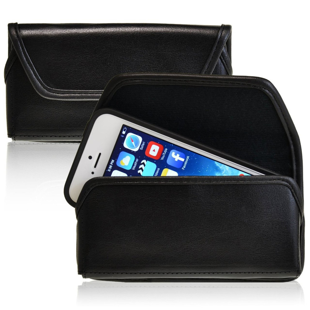iPhone 5/5S/SE Horizontal Leather Fixed Clip Holster