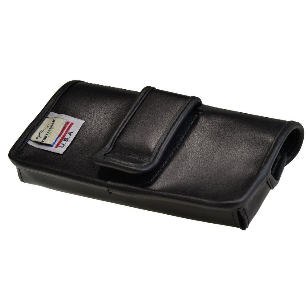 Blackberry Classic Q20 Horizontal Leather Holster, Black Belt Clip