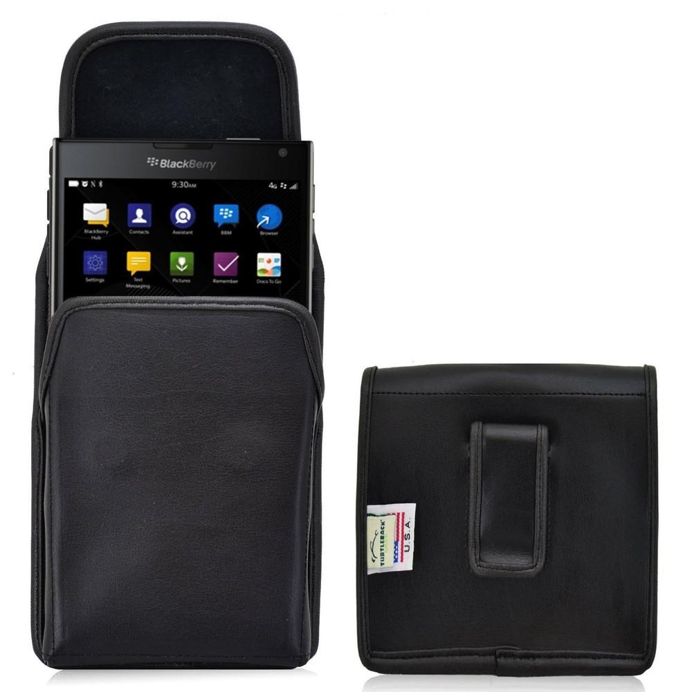 Blackberry Passport Vertical Leather Holster, Black Belt Clip