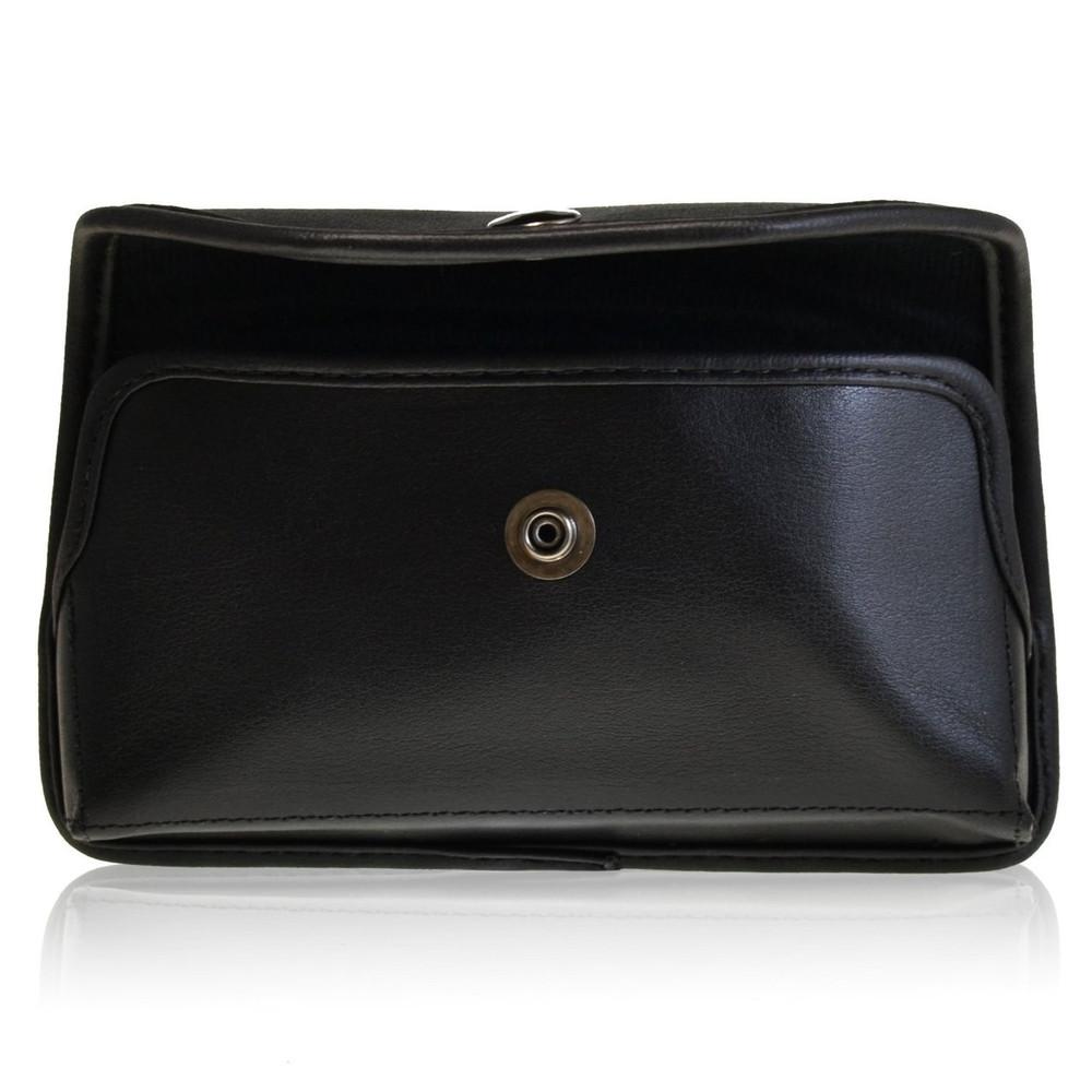 Blackberry Z10 Horizontal Leather Holster, Metal Belt Clip, Snap Closure